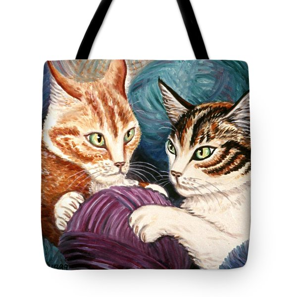 Wooly Rollick Tote Bag by Linda Mears