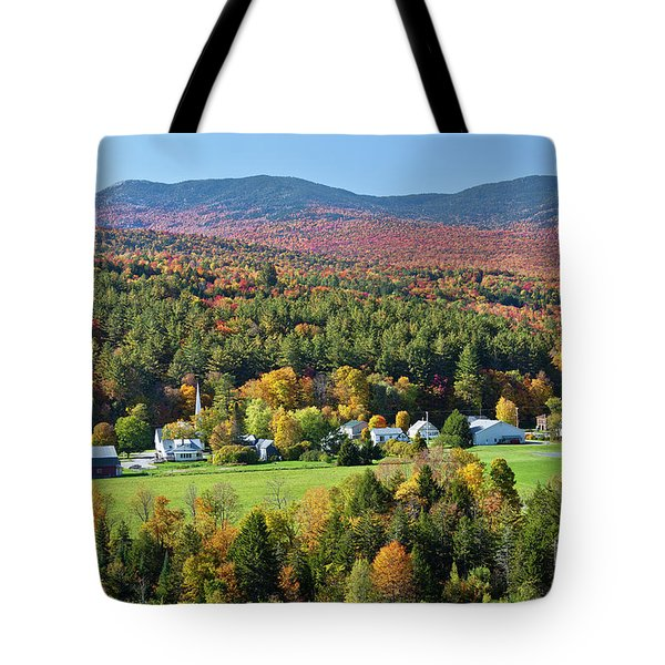 Worcester Vermont Autumn Tote Bag by Alan L Graham