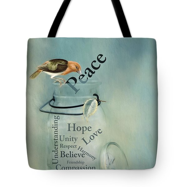 Tote Bag featuring the photograph Peace by Robin-Lee Vieira