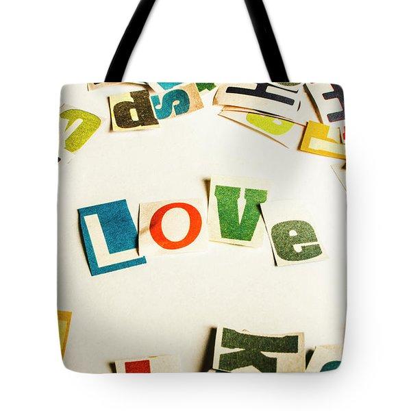 Word Of Love Tote Bag