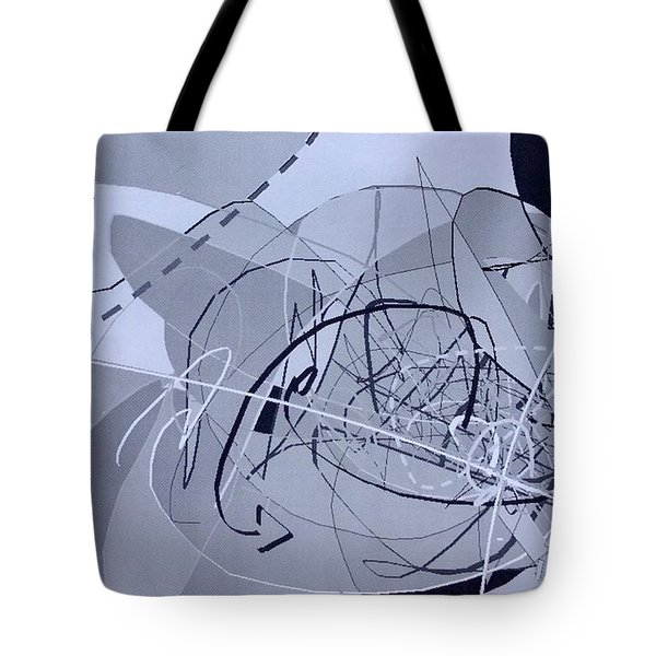 Tote Bag featuring the digital art Word1 by Robert Anderson