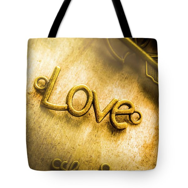 Words And Letters Of Love Tote Bag