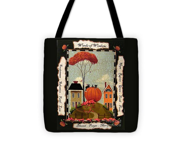Words Of Wisdom Tote Bag by Catherine Holman
