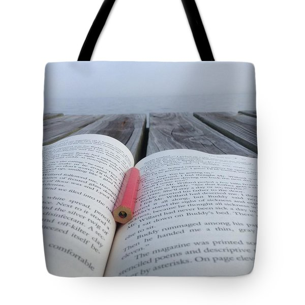 Words On The Dock Tote Bag by Christin Brodie