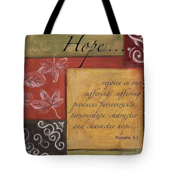 Words To Live By Hope Tote Bag