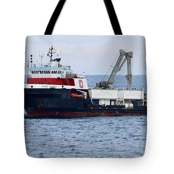 Work Boat Agnes Candies. Tote Bag