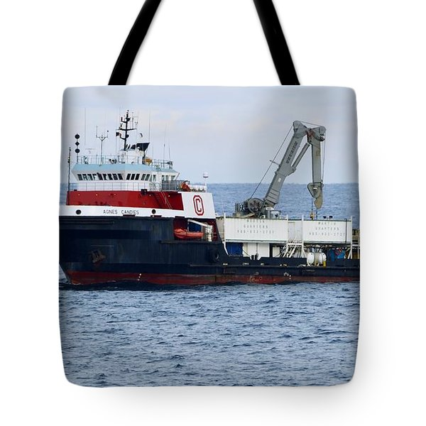 Work Boat Agnes Candies. Tote Bag
