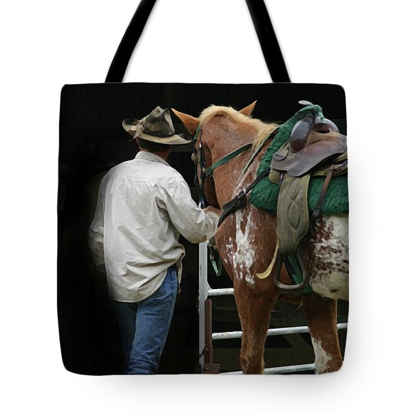 Work Day Ends Tote Bag by Kim Henderson