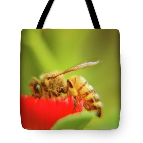 Tote Bag featuring the photograph Worker Bee by Micah May