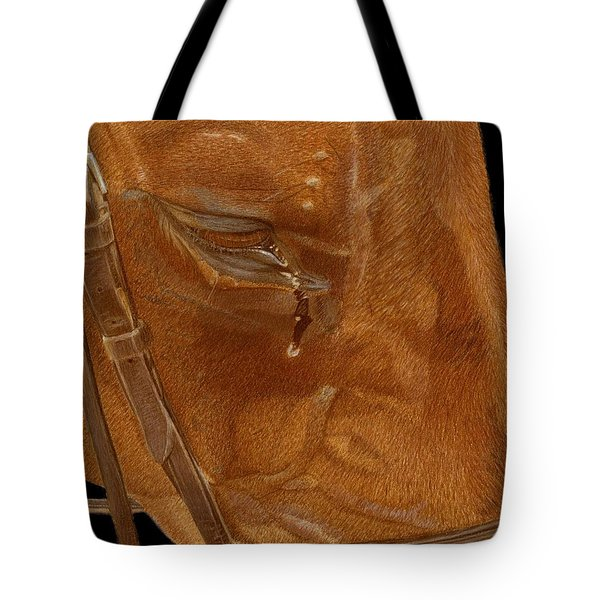 Workhorse Blues - Horse Painting Tote Bag