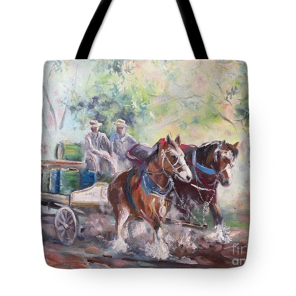 Working Clydesdale Pair, Victoria Breweries. Tote Bag