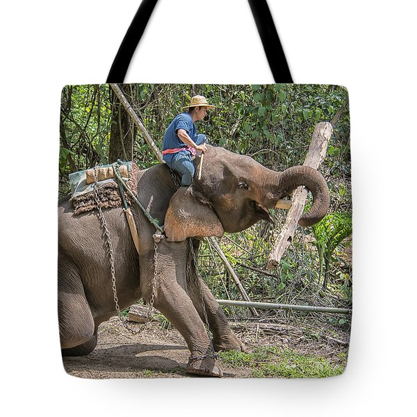 Working Elephant Tote Bag