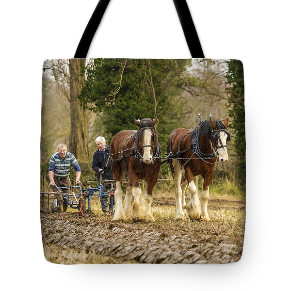 Tote Bag featuring the photograph Working Horses by Roy McPeak