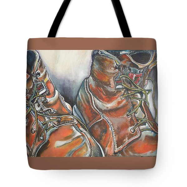 Working Man's Boots Tote Bag