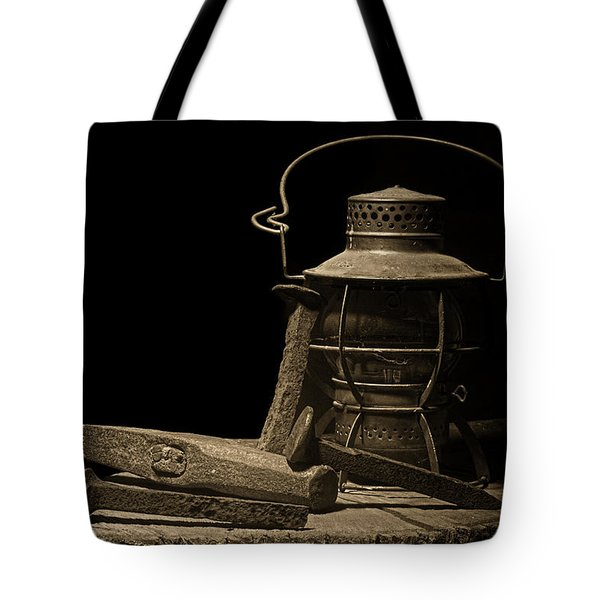 Working On The Railroad Still Life Tote Bag by Tom Mc Nemar
