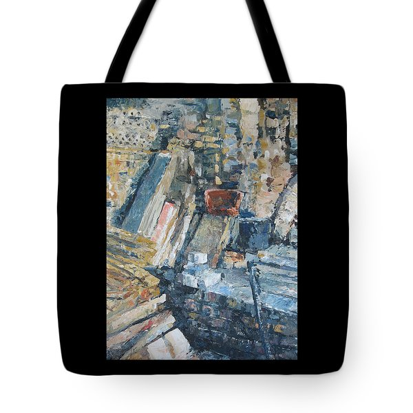 Working To Abstraction Tote Bag by Connie Schaertl