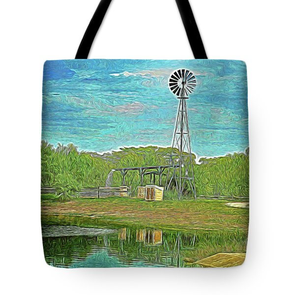 Tote Bag featuring the photograph Working Windmill  by Ray Shrewsberry