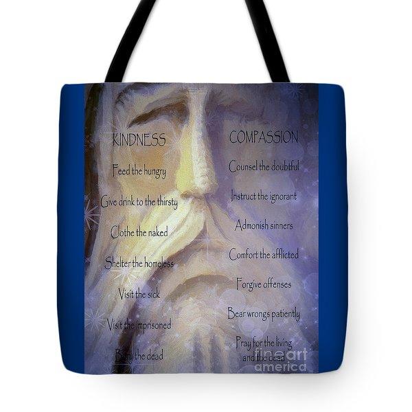 Works Of Mercy Tote Bag by Jean OKeeffe Macro Abundance Art