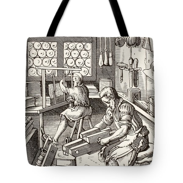 Workshop Of A Bookbinder, After A 16th Tote Bag