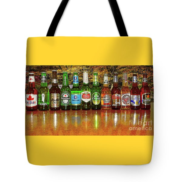 Tote Bag featuring the photograph World Beers By Kaye Menner by Kaye Menner