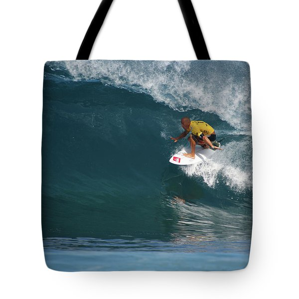 World Champion In Action Tote Bag by Kevin Smith