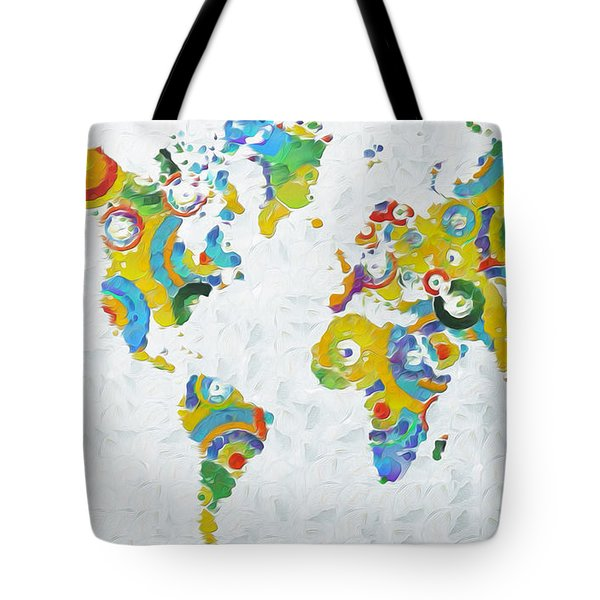 Abstract World Colorful Map Tote Bag
