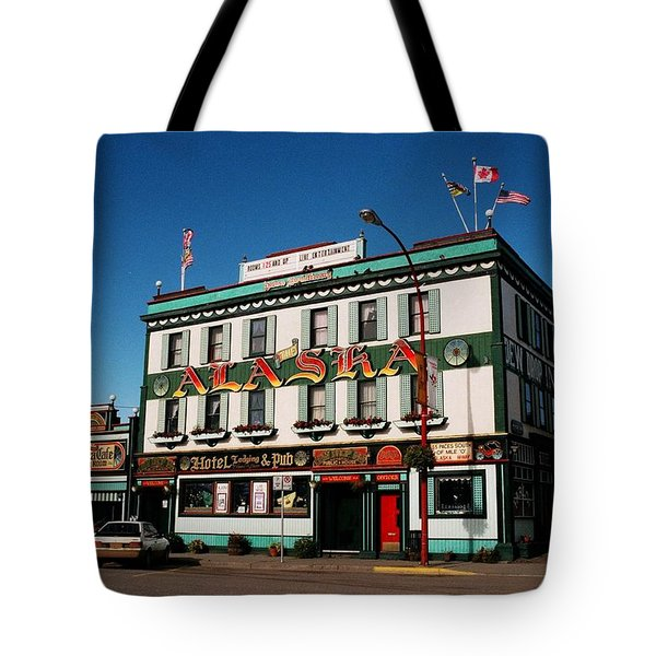 World Famous Alaska Hotel Tote Bag by Juergen Weiss