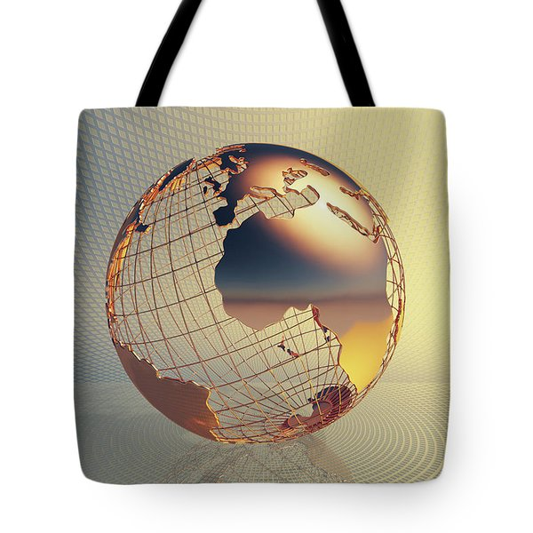 World Global Business Background Tote Bag