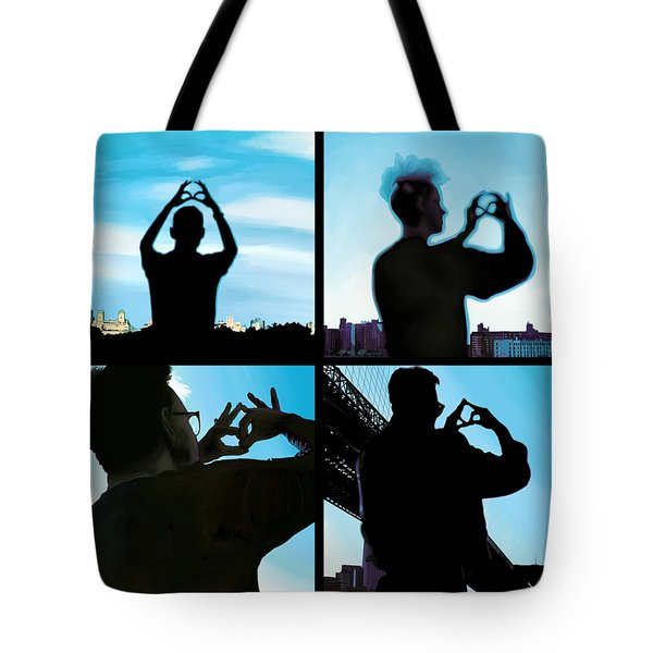 World In My Eyes Color Tote Bag