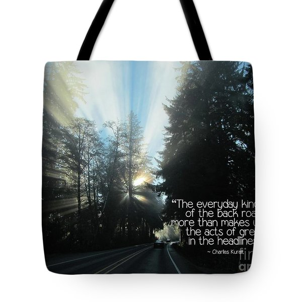 Tote Bag featuring the photograph World Kindness Day by Peggy Hughes