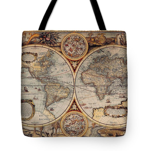 World Map 1636 Tote Bag