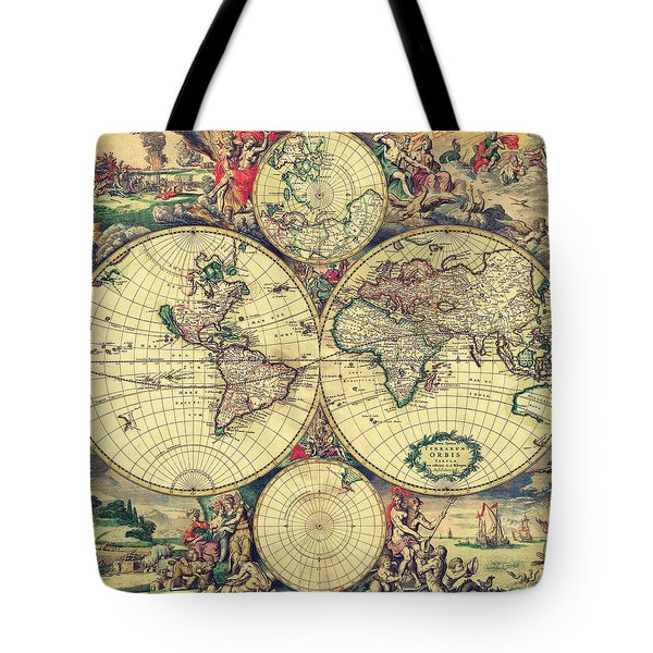 World Map 1689 Tote Bag