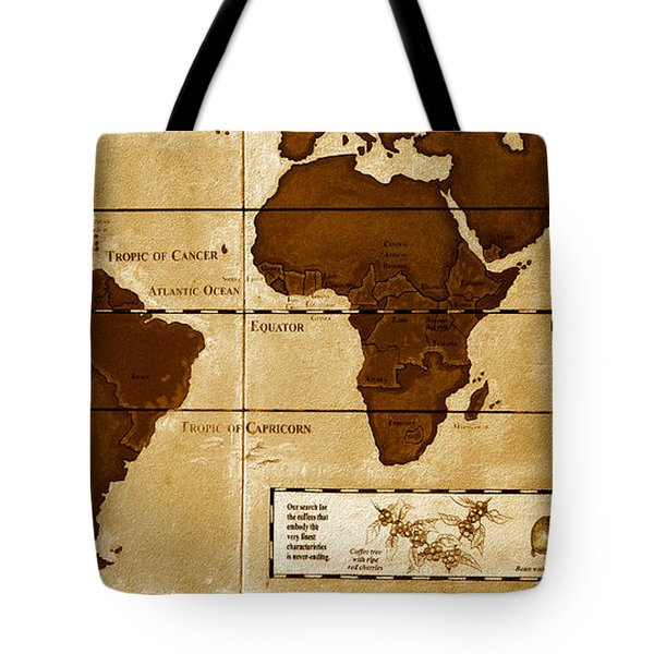 World Map Of Coffee Tote Bag