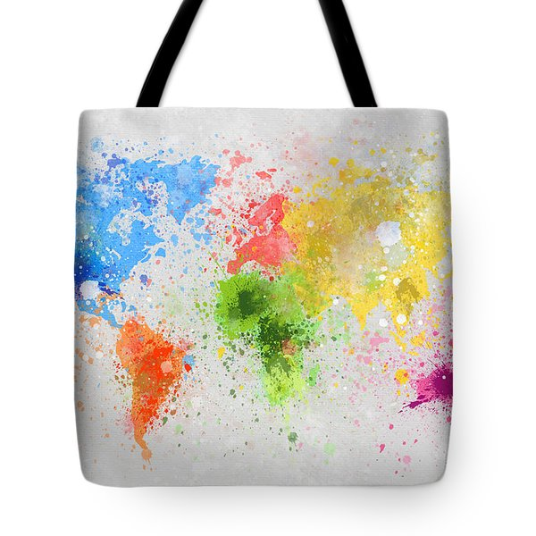 World Map Painting Tote Bag by Setsiri Silapasuwanchai