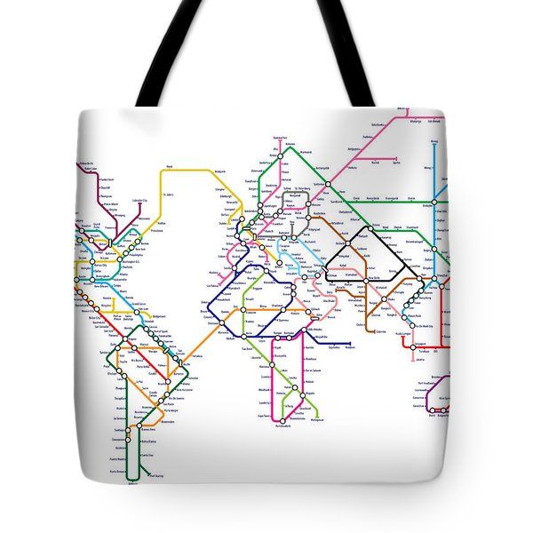 World Metro Tube Map Tote Bag