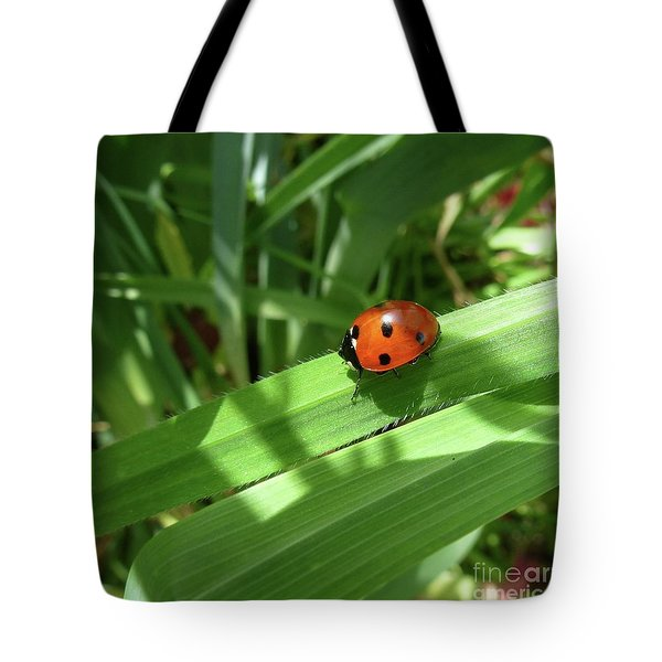 World Of Ladybug 1 Tote Bag by Jean Bernard Roussilhe