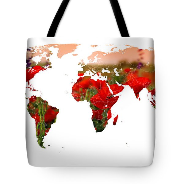 World Of Poppies Tote Bag