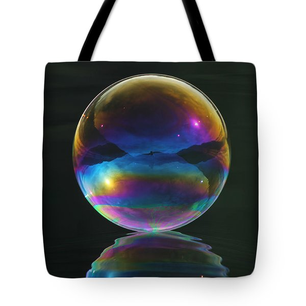 World Of Refraction Tote Bag by Cathie Douglas
