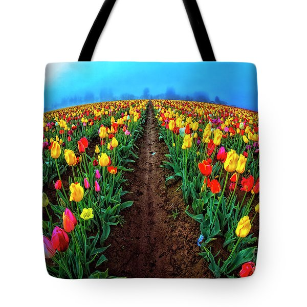 World Of Tulips Tote Bag