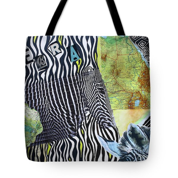 World Of Zebras Tote Bag