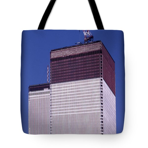 World Trade Center Under Construction Tote Bag