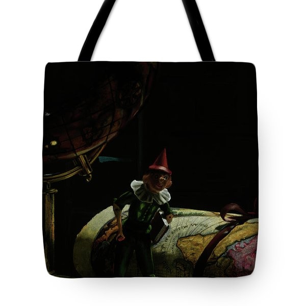World Traveler Pinocchio Tote Bag by Kelly Borsheim