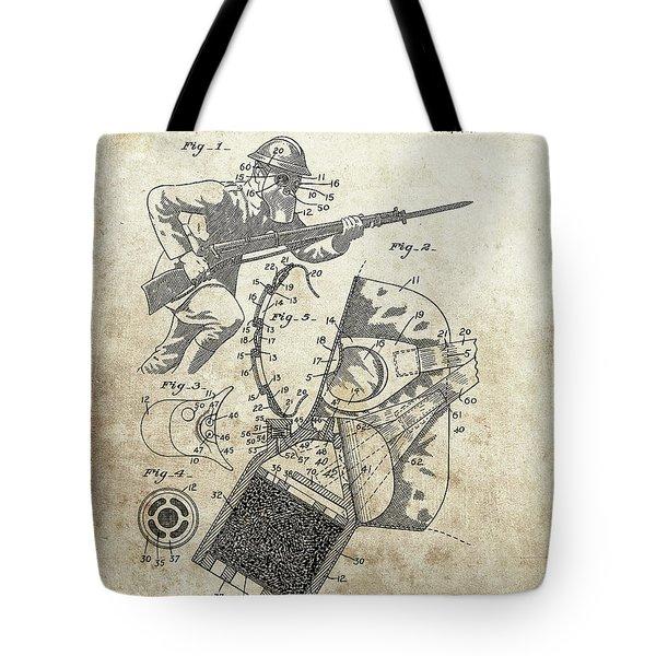 World War 1 Gas Mask Tote Bag