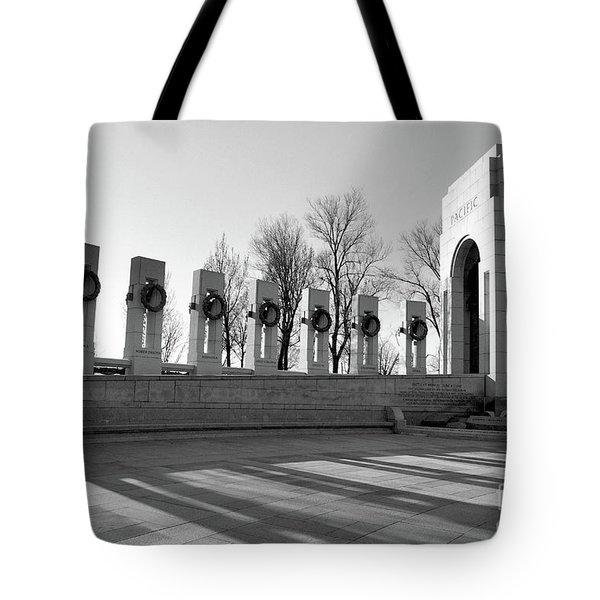 World War 2 Memorial Bw Tote Bag