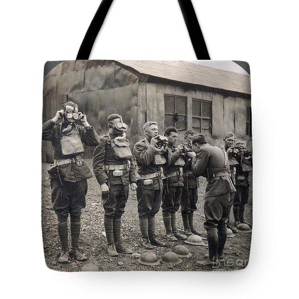 World War I: Gas Masks Tote Bag by Granger