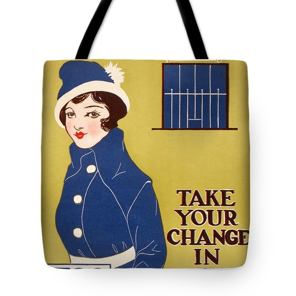 World War I: Thrift Stamps Tote Bag by Granger