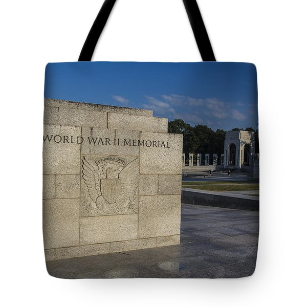 Tote Bag featuring the photograph World War II Memorial 1 by ELDavis Photography