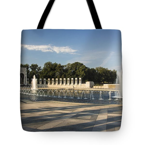 Tote Bag featuring the photograph World War II Memorial 3 by ELDavis Photography