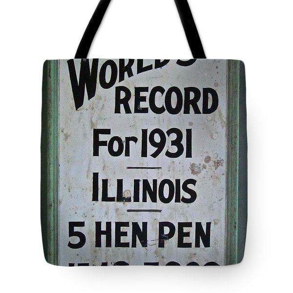 World's Record Tote Bag by Gwyn Newcombe