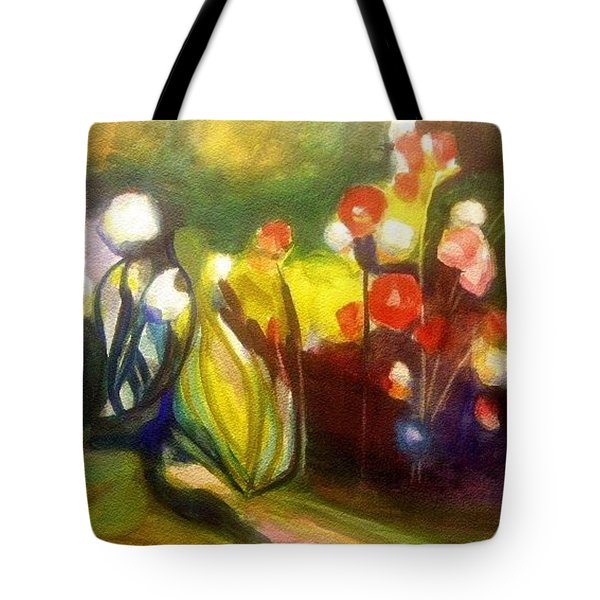 Warm Flowers In A Cool Garden Tote Bag